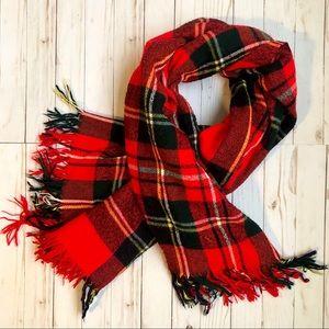 Troy Robe Large Wool Tartan Blanket Scarf
